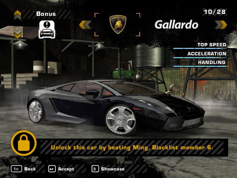 Blacklist Lamborghini: Www.nfsmw.estranky.sk