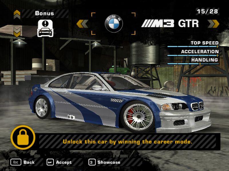 bmw m3 gtr nfsmw. BMW M3 GTR - Vaše původní auto